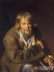 Kramskoi Ivan. Old Man with a Crutch. 1872
