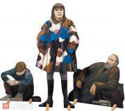 "Nazarenko Tatiana. Сut-out figures for the ""Underpass"" installation. 1995-1996"