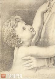 Lermontov Mikhail. Child Stretching to His Mother. 1829
