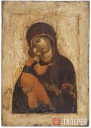 Our Lady of Vladimir. First quarter of the 15th century