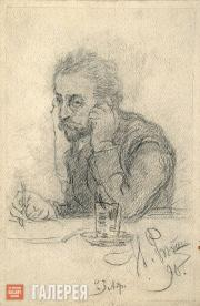Ilya REPIN (?). Portrait of a Man (Portrait of Ivan Leontiev (Shcheglov)). 1890