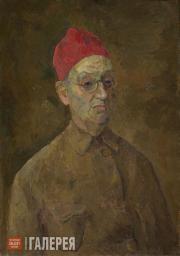Falk Robert. Self-portrait in Red Fez. 1957