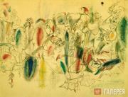 """Gorky Arshile (Vosdanig Adoian). Study for """"The Liver is the Cock's Comb"""". 1943"""