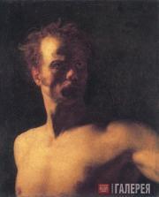 Теодор ЖЕРИКО. Этюд натурщика. 1810-е