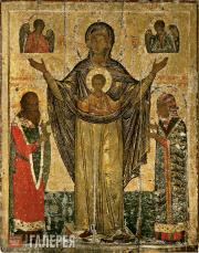 The Virgin Mary Great Panagia (The Virgin Mary of the Sign of Mirozh). 1583 (?)