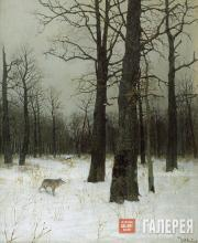 Levitan Isaaс. Winter. In a Forest. 1885