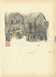 Щусев Алексей. Зал суда. Картина VIII,  действие V. 1927