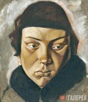 Yelena Evenbach (1889-1981). Woman's Head. 1919