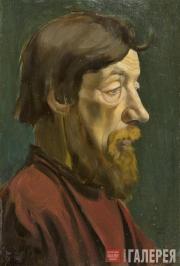Yelena Evenbach (1889-1981). Man's Head. 1919