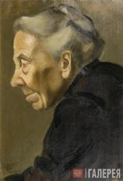 Yelena Evenbach (1889-1981). Portrait of an Old Woman. 1919