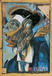 David BURLIUK. Portrait of My Uncle. 1910s