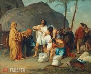 Ivanov Alexander. Joseph's Brothers Find the Cup in Benjamin's Sack. 1831–1833