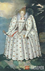 "Gheeraerts Marcus, the younger. Queen Elizabeth I (""The Ditchley portrait""). c."