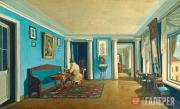 К.А.Зеленцов. В комнатах. Гостиная с колоннами на антресолях. Kонец 1820 –1830-е