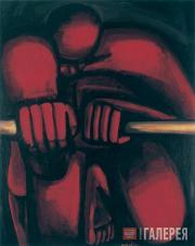 Hans-Hendrik Grimmling. An Oarsman. Triptych (central part). 1983