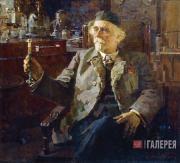 Kotov Pyotr. Portrait of Academician Nikolai Zelinsky. 1947