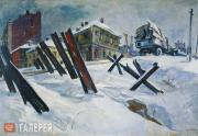 Deineka Alexander. The Outskirts of Moscow. November, 1941. 1941