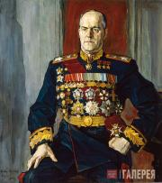 Korin Pavel. Portrait of Georgy Zhukov. 1945