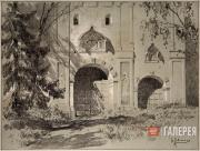 Levitan Isaaс. Main Gate at the Savvinsky monastery near Zvenigorod