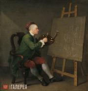 William HOGARTH. Self-portrait. 1758
