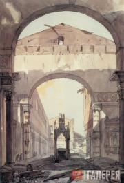 Alexander Brullov. The Basilica of St. Paul in Rome