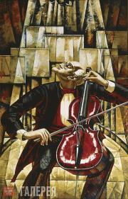 Salakhov Tahir. Mstislav Rostropovich. 2000