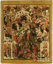 Iosif Vladimirov's circle (?). The Nativity of Christ. Mid-17th century