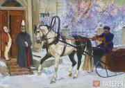 """Plastov Arkady. Illustration to """"Kholstomer"""" by Leo Tolstoy. 'Prince Serpukhovsk"""