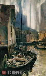 Korovin Konstantin. Hammerfest. The Nothern Lights. 1894-1895