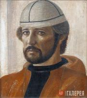 Filatchev Oleg. Self-portrait in a Svanetian Cap. 1980
