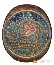 "Decorative Dish ""The Firebird"". From a sketch by Alexander Golovin. 1898–1899"