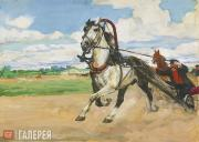 """Plastov Arkady. Illustration to """"Kholstomer"""" by Leo Tolstoy. 'Kholstomer Passes"""