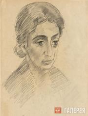 Falk Robert. Portrait of Zoya Kalatozova. 1952