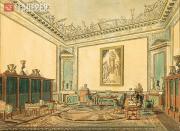 Golovina Varvara. The Study-library of Empress Elizabeth Alexeievna in the Winte