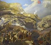 Гагарин Григорий. Сражение между русскими войсками и черкесами при Ахатле 8 мая