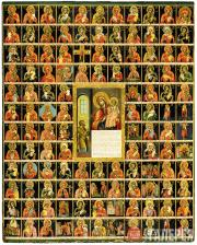 Неизвестный художник. Богоматерь Нечаянная Радость, с чудотворными иконами Богом