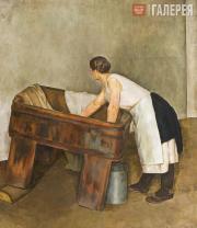 Alexei Pochtenny (1895-1942). A Laundrywoman. 1926