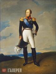 K.SHEVELKIN. Portrait of Alexander I. 2nd half of the 19th century