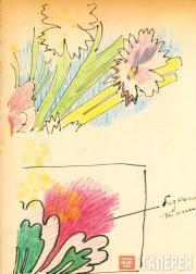 Цветочный узор. Фрагмент