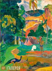 Gauguin Paul. MATA MOE (the royal end). Landscape with Peacocks. 1892