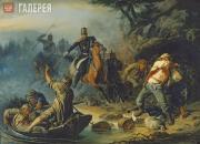 Khudyakov Vasily. Armed Clash with Finnish Smugglers. 1853