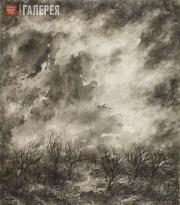 """Levina-Rozengolts Eva. From the cycle """"Sky"""". Sheet 8 (""""The Clouds""""). 1961"""