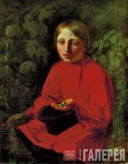 Venetsianov Alexei. Boy in a Red Shirt. 1845