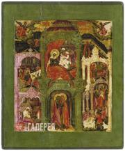 Gurii Nikitin's circle. The Festival Tier. The Nativity of the Virgin Mary. 1680