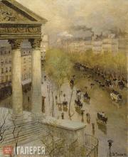 Thaulow Fritz. Boulevard Madeleine in Paris. 1895