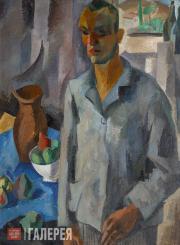 Falk Robert. Self-portrait with Window Background. 1916
