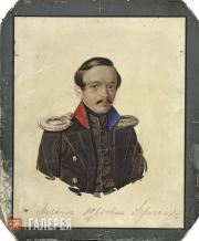 Klunder Alexander. Portrait of Mikhail Lermontov. 1839-1840