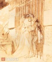 К.П.БРЮЛЛОВ. Свидание в тюрьме. 1832