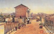 А.И.ИВАНОВ. Вид Рима с крыши его дома. 1854