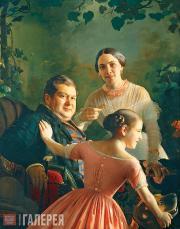 С.К.Зарянко. Портрет семьи Турчаниновых. 1848